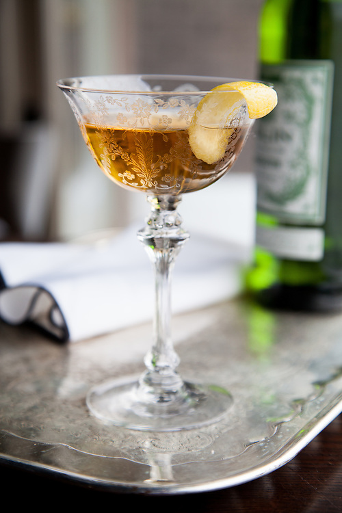 French vermouth, sherry, orange bitters, maraschino liqueur, served up.