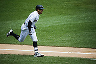 June 15, 2017 - Chicago, IL, USA - Chicago White Sox right fielder Avisail Garcia (26) runs to first base as he singles in the second inning against the Baltimore Orioles at Guaranteed Rate Field Thursday, June 15, 2017 in Chicago. The White Sox won, 5-2. (Credit Image: © Jose M. Osorio/TNS via ZUMA Wire)