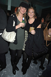 Left to right, sisters the HON.KIRSTY HAMILTON-SMITH and the HON.TANYA HAMILTON-SMITH daughters of Lord Colwyn at a party to present the Fall/Winter Collection 2007/2008 of Moncler the French mountaineering brand held at 10 Mercer Street, London WC2 on 13th February 2007.<br /><br />NON EXCLUSIVE - WORLD RIGHTS