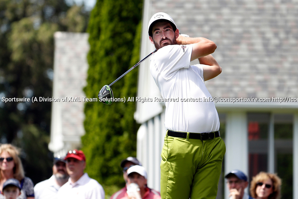 CROMWELL, CT - JUNE 24: Chase Seiffert of the United States drives from the 6th tee during the third round of the Travelers Championship on June 24, 2017, at TPC River Highlands in Cromwell, Connecticut. (Photo by Fred Kfoury III/Icon Sportswire)