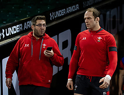 Alun Wyn Jones of Wales makes his way to the pitch<br /> <br /> Photographer Simon King/Replay Images<br /> <br /> Six Nations Round 1 - Wales v Italy -  Captains Run - Friday 31st January 2020 - Principality Stadium - Cardiff<br /> <br /> World Copyright © Replay Images . All rights reserved. info@replayimages.co.uk - http://replayimages.co.uk