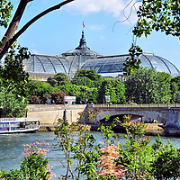 Grand Palais and Seine River in Paris, France<br />