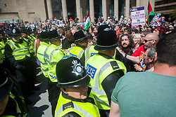 An EDL (English Defence League) organised event to lay flowers at Barkers Pool War Memorial Sheffield,  in memory of Drummer Lee Rigby, resulted in a two hour stand off when Sheffield Unite Against Fascism and One Sheffield Many Cultures supporters occupied Barkers Pool and surrounded the War Memorial leaving police to keep the opposing factions apart. <br /> 1 June 2013