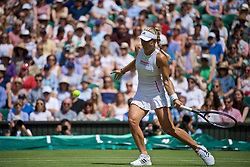 LONDON, ENGLAND - Tuesday, July 2, 2019: Angelique Kerber (GBR) during the Ladies' Singles first round match on Day Two of The Championships Wimbledon 2019 at the All England Lawn Tennis and Croquet Club. (Pic by Kirsten Holst/Propaganda)