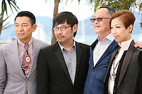 Actors Andy Lau, Wai Ka-fai, Director Johnnie To and Actress Sammi Cheng at the 'Blind Detective' photocall at the Cannes Film Festival Monday 20th May 2013