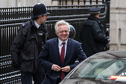 © Licensed to London News Pictures. 29/11/2017. London, UK. Secretary of State for Exiting the European Union David Davis leaves the Cabinet Office before Prime Minister's Questions. Photo credit: Rob Pinney/LNP