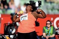 Friidrett ,  11. juni 2015 , Diamond League , Bislett Games , Oslo<br />  Atheltics<br /> kule<br /> Michelle Carter , USA