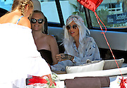EXCLUSIVE IBIZA, SPAIN, 2016, AUGUST 04 <br /> <br /> Ruby Rose, enjoys every day of his beautiful girlfriend, entrepreneurial Harley Gusman. So much so that the dj surprised his girl with a gray wig, gown adorned with flowers and sixties style, plus a heart shaped balloon. Harley thanked him with a loving kiss<br /> ©Exclusivepix Media
