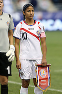 26 October 2014: Shirley Cruz (CRC). The United States Women's National Team played the Costa Rica Women's National Team at PPL Park in Chester, Pennsylvania in the 2014 CONCACAF Women's Championship championship game. By advancing to the final, both teams have qualified for next year's Women's World Cup in Canada. The United States won the game 6-0.