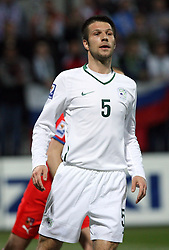 Bostjan Cesar of Slovenia at the 8th day qualification game of 2010 FIFA WORLD CUP SOUTH AFRICA in Group 3 between Slovenia and Czech Republic at Stadion Ljudski vrt, on March 28, 2008, in Maribor, Slovenia. Slovenia vs Czech Republic 0 : 0. (Photo by Vid Ponikvar / Sportida)