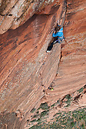 Brittany Griffith and Kate Rutherford, on Sheer Lunacy, V 5.12c, Zion National Park
