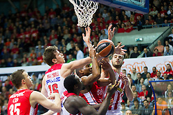 Dimitrios Agravanis of Olympiacos during Euroleague basketball match in 6th Round of Group B between KK Cedevita Zagreb and Olympiacos Piraeus, on November 19, 2015, in Drazen Petrovic basketball hall, Zagreb, Croatia.