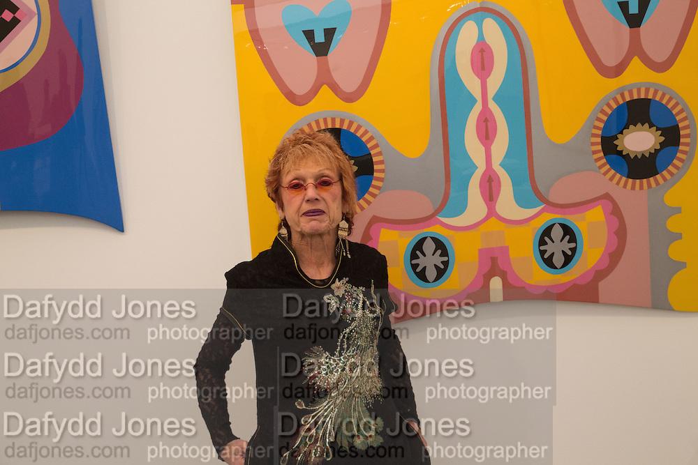 JUDY CHICAGO, Opening of Frieze Masters. Regent's Park. London. 15 October 2013.