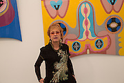 JUDY CHICAGO, Opening of Frieze Masters. Regent's Park. London. 15 October 2013.