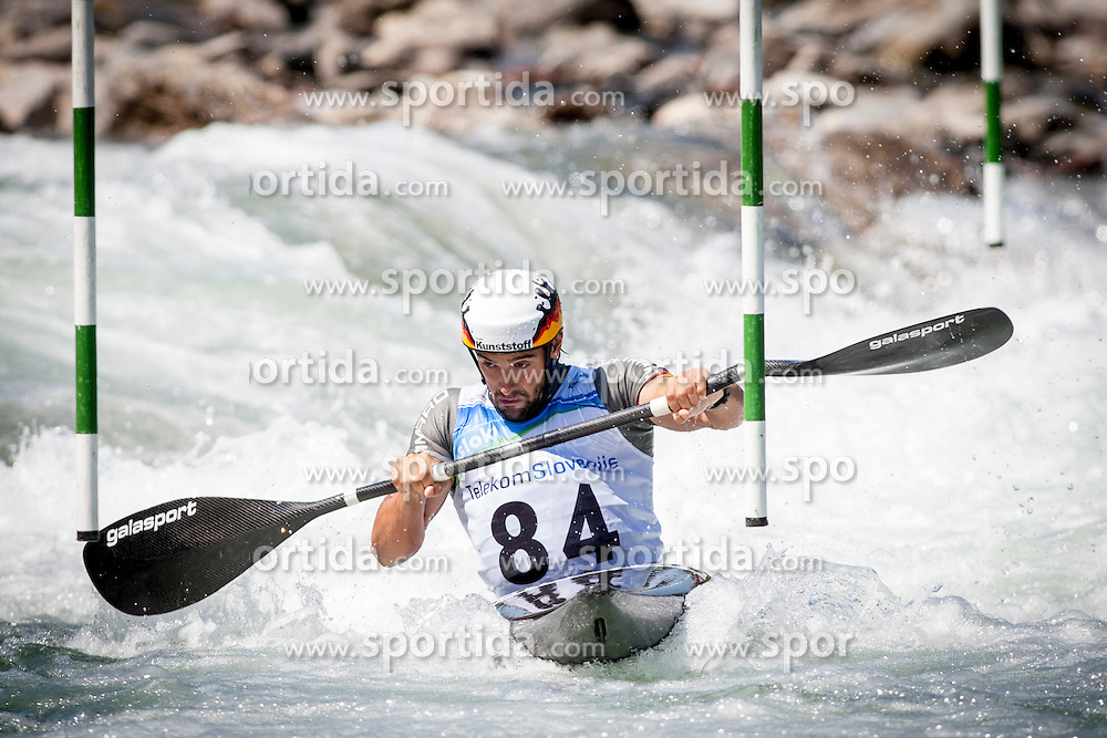 Hannes Aigner of Germany during Kayak(K1) Man final race at ICF Canoe Slalom World Cup Sloka 2013, on August 17, 2013, in Tacen, Ljubljana, Slovenia. (Photo by Urban Urbanc / Sportida.com)