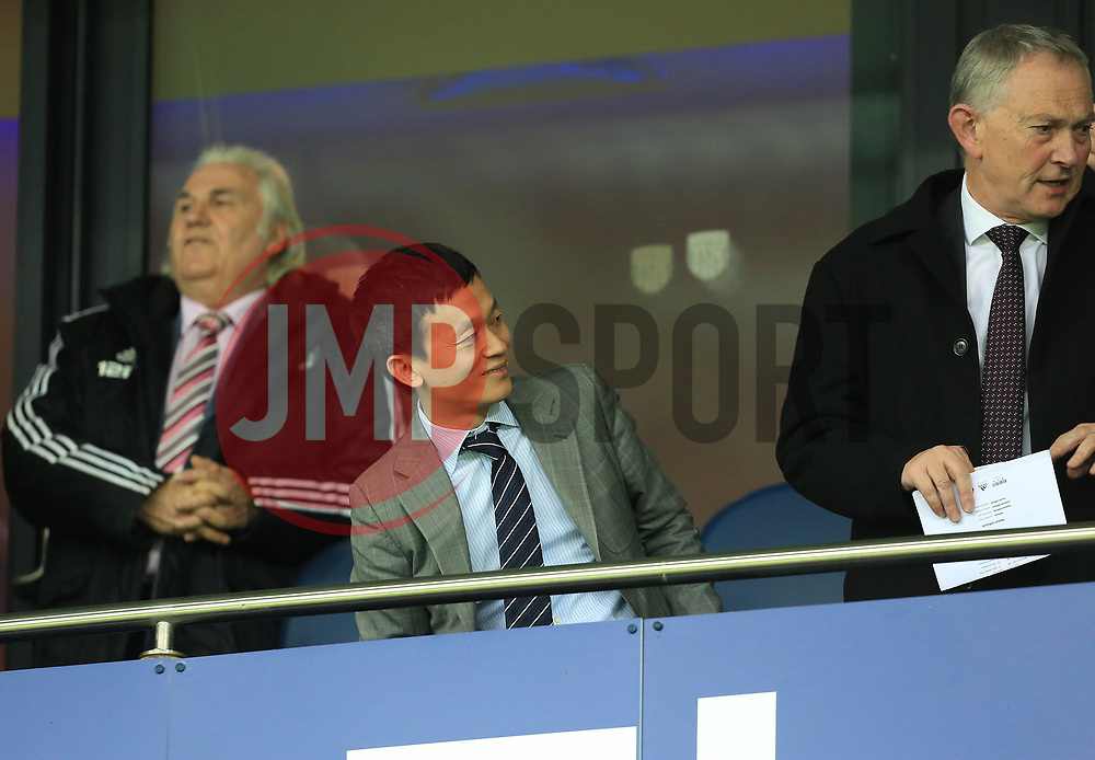 West Bromwich Albion owner Guochuan Lai takes his seat - Mandatory by-line: Paul Roberts/JMP - 18/11/2017 - FOOTBALL - The Hawthorns - West Bromwich, England - West Bromwich Albion v Chelsea - Premier League