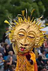 United States, Washington, Seattle, puppet in annual Fremont Solstice Parade