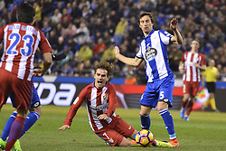 March 2, 2017 - La Coruna, Spain - Griezman and P.Mosquera. La Liga Santander Matchday 25. Riazor Stadium, La Coruna, Spain. March 02, 2017. (Credit Image: © Monica Arcay Carro/VW Pics via ZUMA Wire/ZUMAPRESS.com)