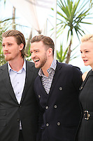 Garrett Hedlund, Justin Timberlake, Carey Mulligan,.at the Coen brother's new film 'Inside Llewyn Davis' photocall at the Cannes Film Festival Sunday 19th May 2013