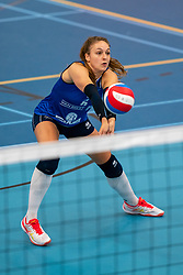 26-10-2019 NED: Talentteam Papendal - Sliedrecht Sport, Ede<br /> Round 4 of Eredivisie volleyball - Fleur Savelkoel #6 of Sliedrecht Sport