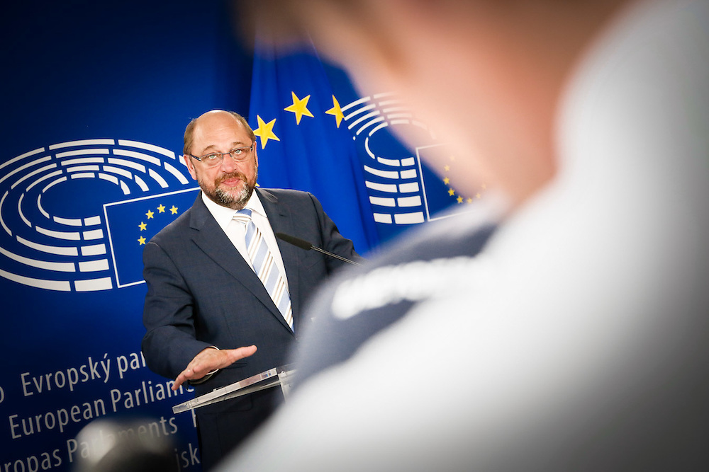 Press conference of Martin SCHULZ - EP President on Greece following the meeting of the Conference of Presidents