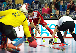 LEIZPIG - WC HOCKEY INDOOR 2015<br /> AUT v IRI (Semi Final 2)<br /> BEIRANVAND Behdad<br /> FFU PRESS AGENCY COPYRIGHT FRANK UIJLENBROEK