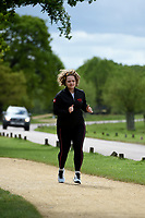 Carrie Hope Fletcher Celebrate You Training Session with Tim Weeks in Richmond Park, Surrey - preparing runners for The Vitality London 10,000, which will take place on Monday 27th May 2019. Friday 26 April 2019<br /> <br /> Photo: Kate Green for Vitality London 10,000<br /> <br /> For further information: media@londonmarathonevents.co.uk