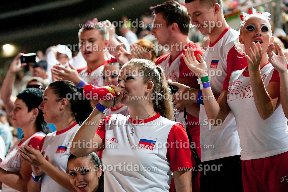 Russian fans at European Cheerleading Championship 2011, on July 2, 2011, in SRC Stozice, Ljubljana, Slovenia (Photo by Matic Klansek Velej / Sportida)