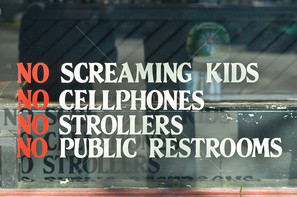 Funny store window notices