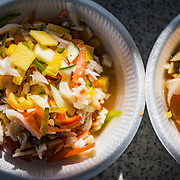 Conch salad is one of the most common and popular conch dishes found throughout The Bahamas. The conch is added to the dish raw much like ceviche. This image was made in Nassau on the island of New Providence.