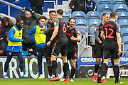 Goal Stoke City forward Tyrese Campbell (26) scores a goal and celebrates 0-2 during the EFL Sky Bet Championship match between Queens Park Rangers and Stoke City at the Kiyan Prince Foundation Stadium, London, England on 15 February 2020.