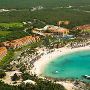 Aerial view of hotel in Riviera Maya