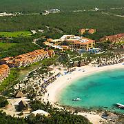 Aerial view of hotel in Riviera Maya