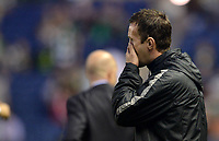 06/08/14 UEFA CHAMPIONS LEAGUE 3RD QUALIFYING RND 2ND LEG<br /> CELTIC v LEGIA WARSAW<br /> BT MURRAYFIELD STADIUM - EDINBURGH<br /> Dejected Celtic manager Ronny Deila