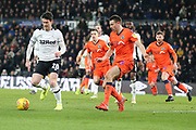 Derby County forward David Nugent on the ball during the EFL Sky Bet Championship match between Derby County and Millwall at the Pride Park, Derby, England on 20 February 2019.