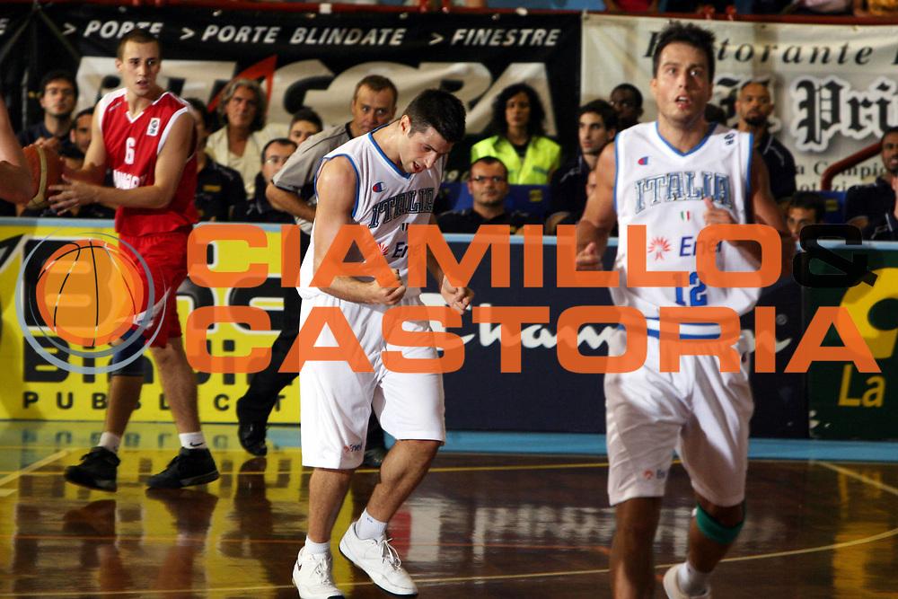DESCRIZIONE : Porto San Giorgio Qualificazione Eurobasket 2009 Italia Ungheria<br />GIOCATORE : Daniele Cinciarini<br />SQUADRA : Italia<br />EVENTO : Raduno Collegiale Nazionale Maschile <br />GARA : Italia Ungheria Italy Hungary<br />DATA : 10/09/2008 <br />CATEGORIA : Esultanza<br />SPORT : Pallacanestro <br />AUTORE : Agenzia Ciamillo-Castoria/G.Ciamillo<br />Galleria : Fip Nazionali 2008 <br />Fotonotizia : Belgrado Qualificazione Eurobasket 2009<br />Italia Ungheria<br />Predefinita :