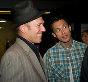PAUL SIMONON AND DAN MACMILLAN, The private view of exhibition 'The House of Viktor & Rolf', at The Barbican Gallery.  London.  June 17 2008. *** Local Caption *** -DO NOT ARCHIVE-© Copyright Photograph by Dafydd Jones. 248 Clapham Rd. London SW9 0PZ. Tel 0207 820 0771. www.dafjones.com.