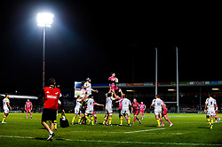 Clermont win a lineout during the second half of the match - Photo mandatory by-line: Rogan Thomson/JMP - Tel: Mobile: 07966 386802 20/10/2012 - SPORT - RUGBY - Sandy Park Stadium - Exeter. Exeter Chiefs v ASM Clermont Auvergne - Heineken Cup Round 2
