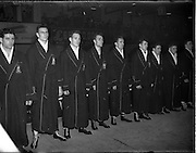 31/10/1952.10/31/1952.31 October 1952.Boxing Germany v Ireland at the National Stadium..The Irish team.