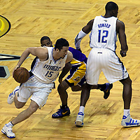 BASKET BALL - PLAYOFFS NBA 2008/2009 - LOS ANGELES LAKERS V ORLANDO MAGIC - GAME 3 -  ORLANDO (USA) - 09/06/2009 - .HEDO TURKOGLU (MAGIC), TREVOR ARIZA (LAKERS), DWIGHT HOWARD (MAGIC)