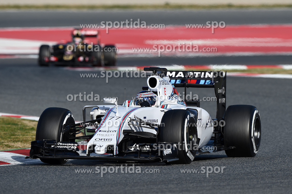 27.02.2015, Circuit de Catalunya, Barcelona, ESP, FIA, Formel 1, Testfahrten, Barcelona, Tag 2, im Bild Valtteri Bottas (FIN) Williams FW37 // during the Formula One Testdrives, day two at the Circuit de Catalunya in Barcelona, Spain on 2015/02/27. EXPA Pictures &copy; 2015, PhotoCredit: EXPA/ Sutton Images/ Mark Images<br /> <br /> *****ATTENTION - for AUT, SLO, CRO, SRB, BIH, MAZ only*****