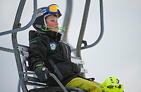 U 14 racers Gus Pitou Memorial alpine ski race January 13, 3013.