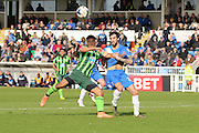Lyle Taylor forward for AFC Wimbledon (33) during the Sky Bet League 2 match between Hartlepool United and AFC Wimbledon at Victoria Park, Hartlepool, England on 25 March 2016. Photo by Stuart Butcher.