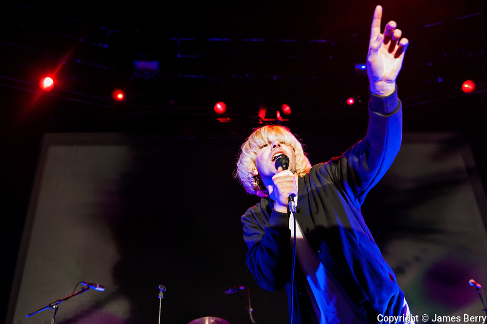 The Charlatans perform live at The Roundhouse, Camden, London on Monday 16 March 2015 in support of their album Modern Nature. Picture shows Tim Burgess.