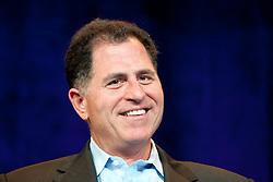 Dell CEO Michael Dell, participates in a CEO roundtable discussion at the annual VMworld conference in San Francisco, California.