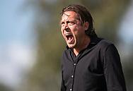 Cheftræner Michael Madsen (Brønshøj) under kampen i 2. Division mellem Brønshøj Boldklub og FC Helsingør den 14. september 2019 i Tingbjerg Idrætspark (Foto: Claus Birch)