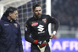 December 15, 2018 - Turin, Piedmont, Italy - Salvatore Sirigu (Torino FC) injured during the Serie A football match between Torino FC and Juventus FC at Olympic Grande Torino Stadium on December 15, 2018 in Turin, Italy. Torino lost 0-1 against Juventus. (Credit Image: © Massimiliano Ferraro/NurPhoto via ZUMA Press)