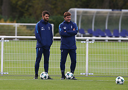 October 31, 2017 - Enfield, England, United Kingdom - Tottenham Hotspur manager Mauricio Pochettino .during a Tottenham Hotspur training session ahead of the UEFA Champions League Group H match against Real Madrid  at Tottenham Hotspur Training centre on 31 Oct , 2017 in Enfield, England. (Credit Image: © Kieran Galvin/NurPhoto via ZUMA Press)