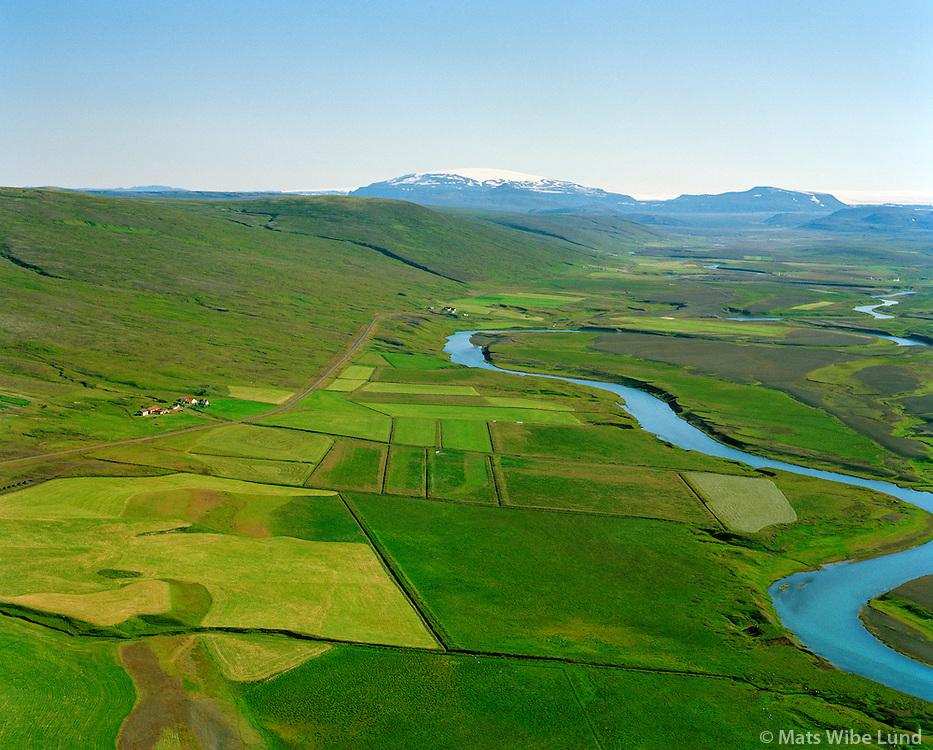 Fróðastaðir séð til austurs, Hvítá, Borgarbyggð áður Hvítársíðuhreppur / Frodastadir viewing east, river Hvita, Borgarbyggd former Hvitarsiduhreppur.