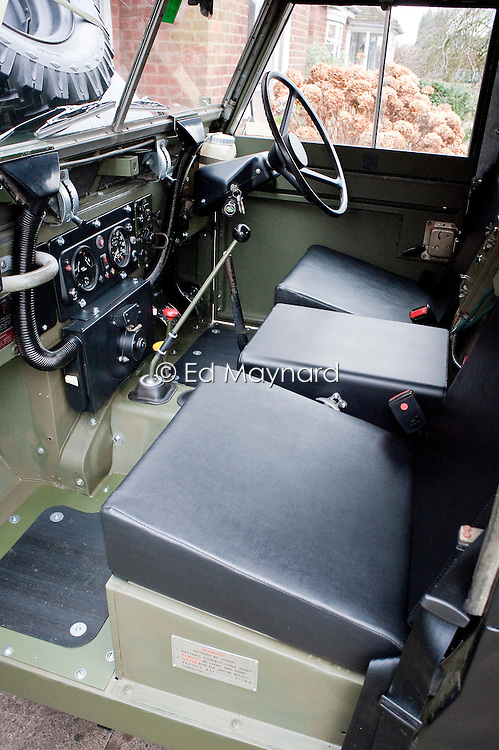 Ex-military Land Rover 1974 Series 3 Truck Utility, 1/2 ton, 4 x 4, 24 Volt FFR (fitted for radio), more usually referred to as a Land Rover Lightweight or Airportable. This vehicle was manufactured in November 1974 and began service with 23rd SAS Regiment, TA. It was transferred to the Mercian Volunteers in March 1976 and remained with them until 1985.
